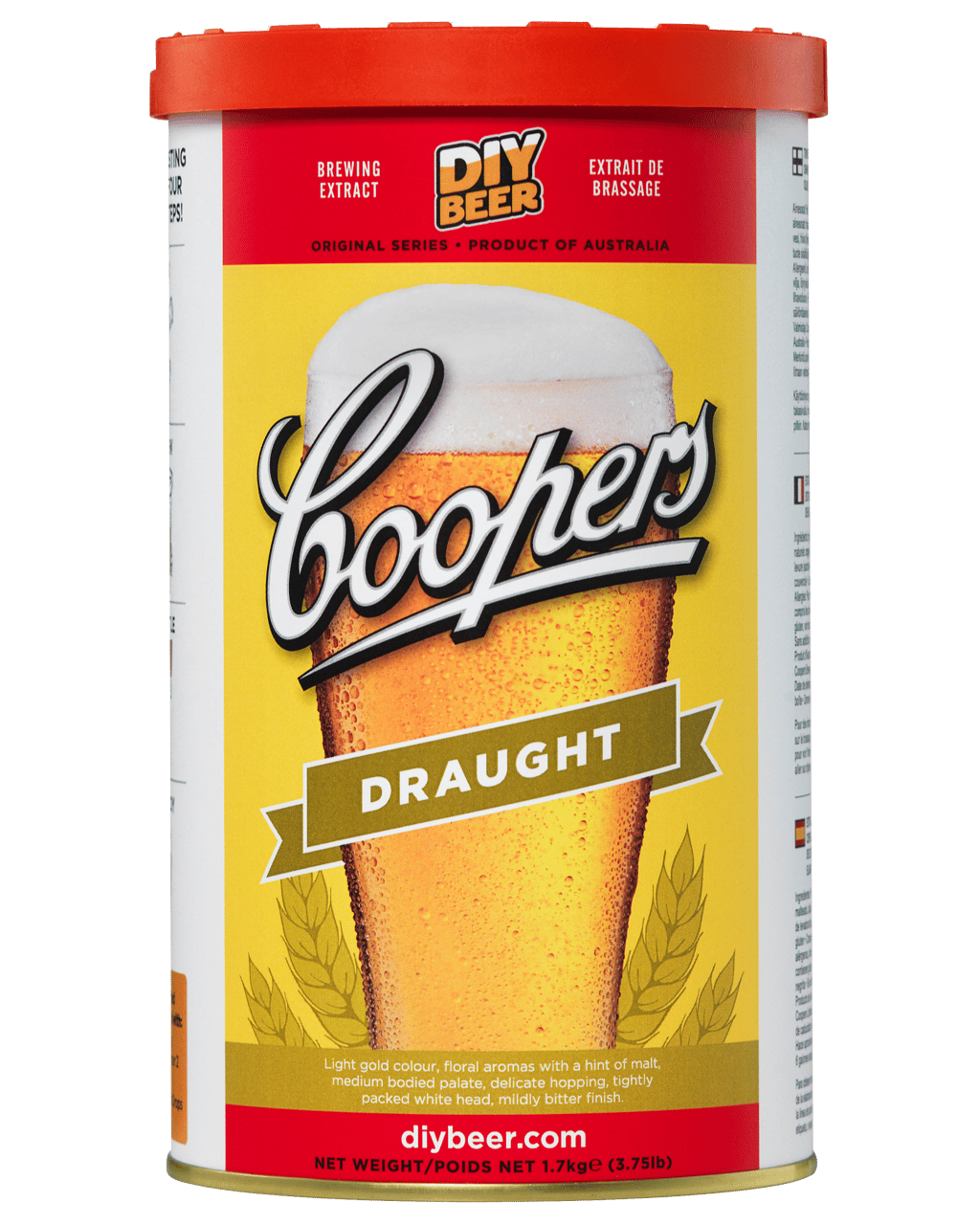 Coopers Home Brew Draught 1.7kg  60190650730