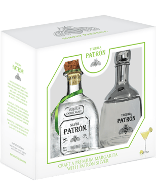 Patrón Silver Tequila & Shaker Gift Pack