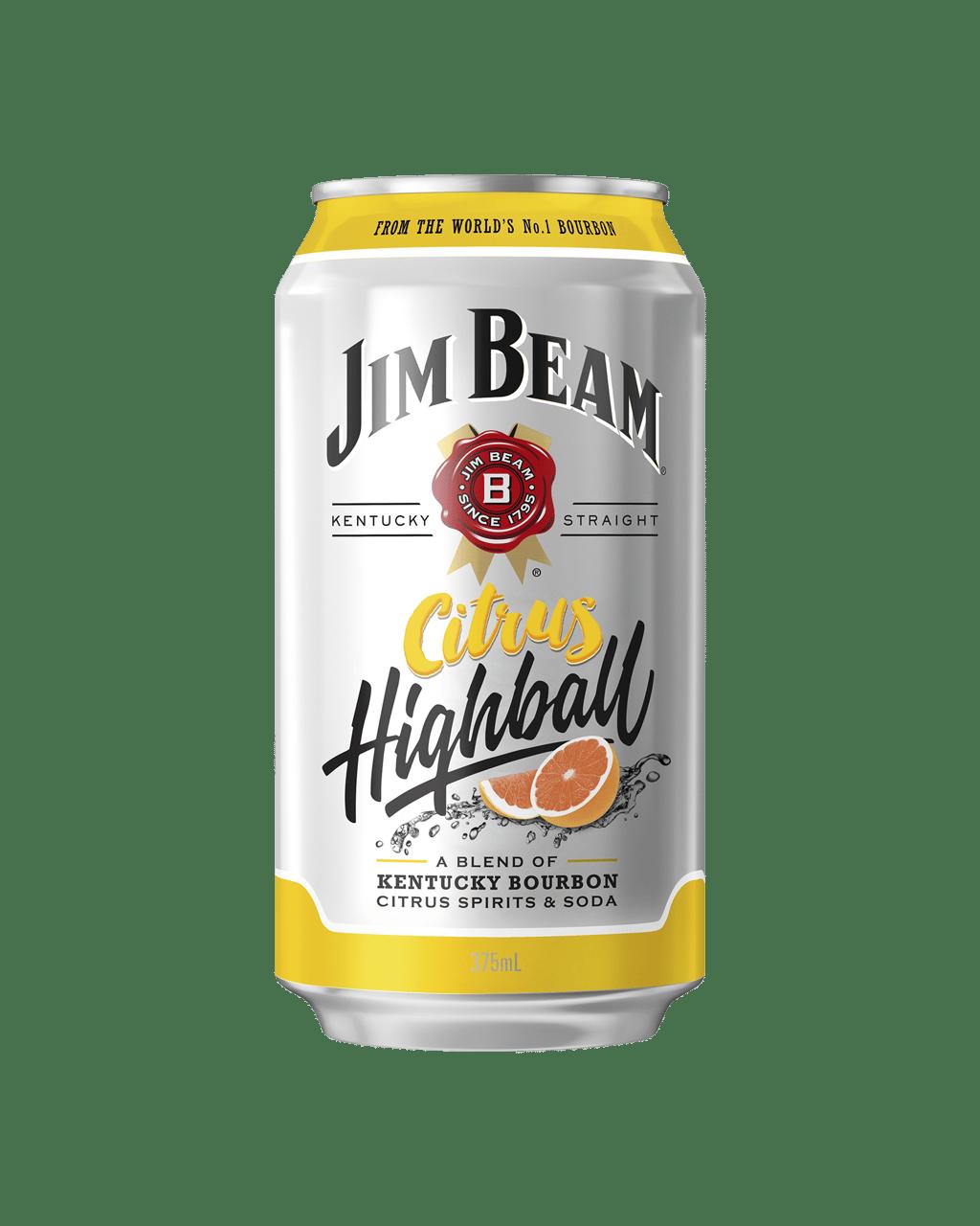 Jim Beam Citrus Highball Cans 375mL  bbf6c3e54d96