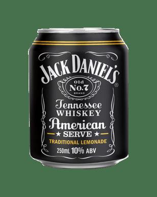 jack daniel s american serve lemonade cans 250ml dan murphy s