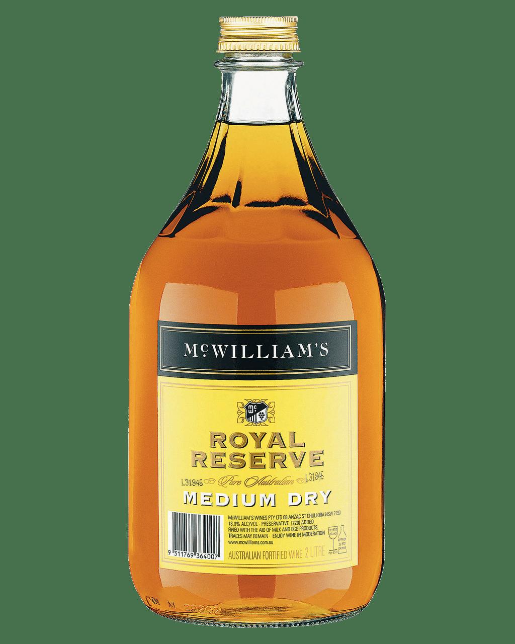 mcwilliam s royal reserve medium dry 2l dan murphy s buy wine