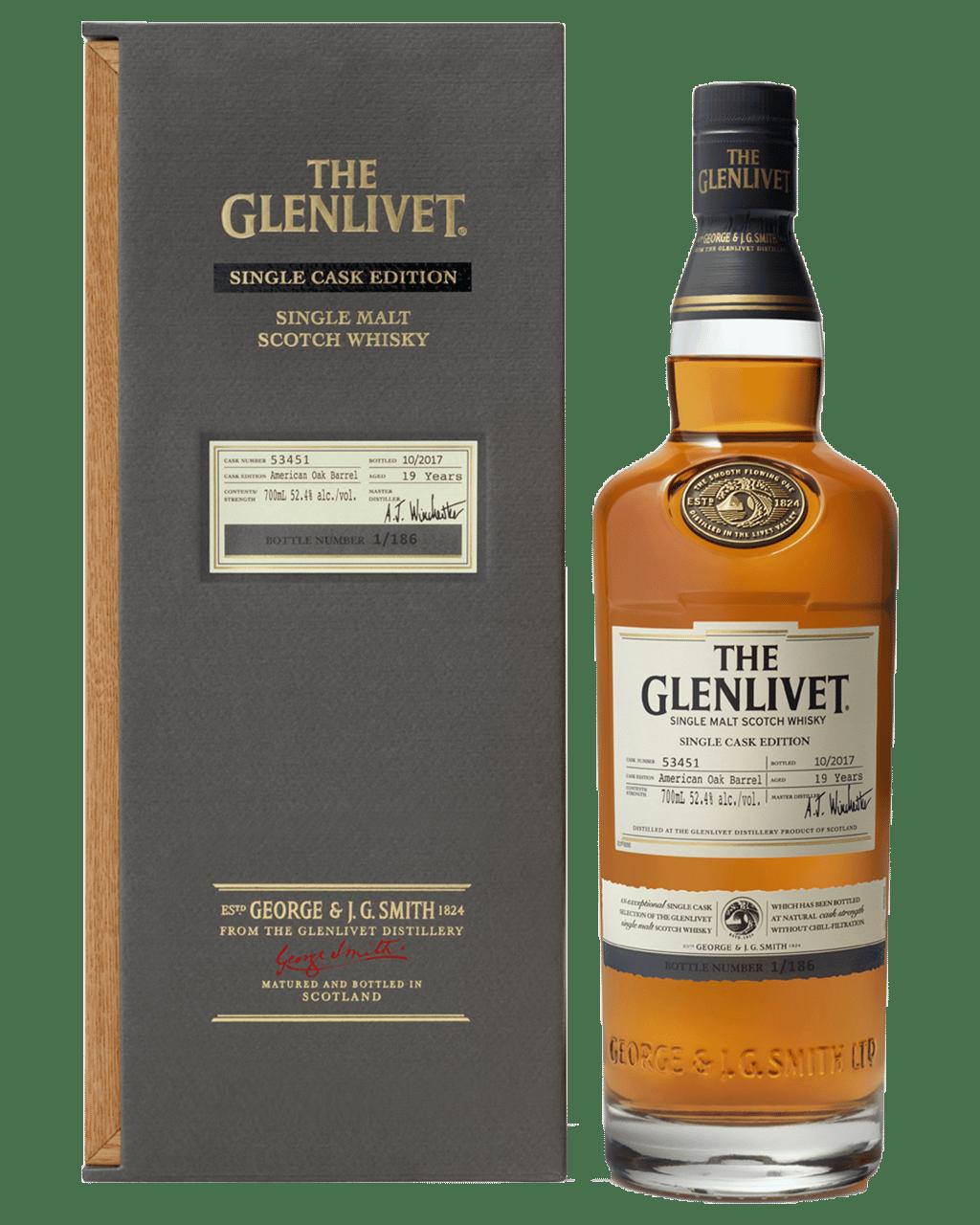 2bc07306346 The Glenlivet 19 Year Old Single Cask Scotch Whisky 700mL