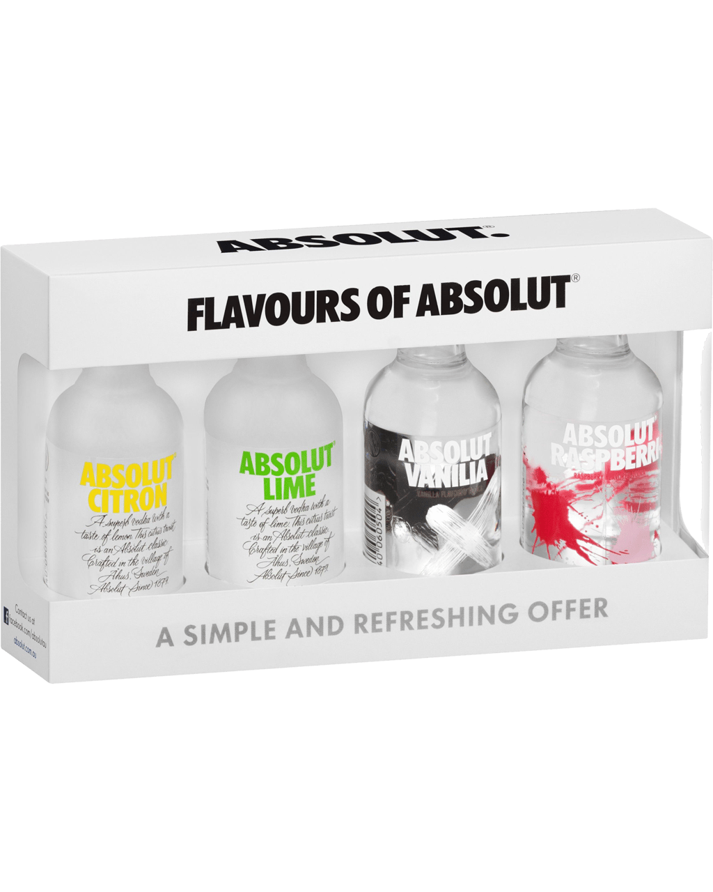 Absolut Vodka Mini Flavour Mix 50mL