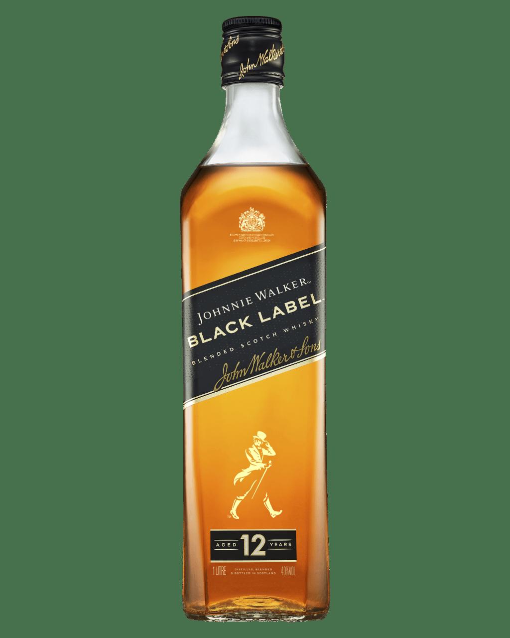 Buy Johnnie Walker Black Label Blended Scotch Whisky 1L
