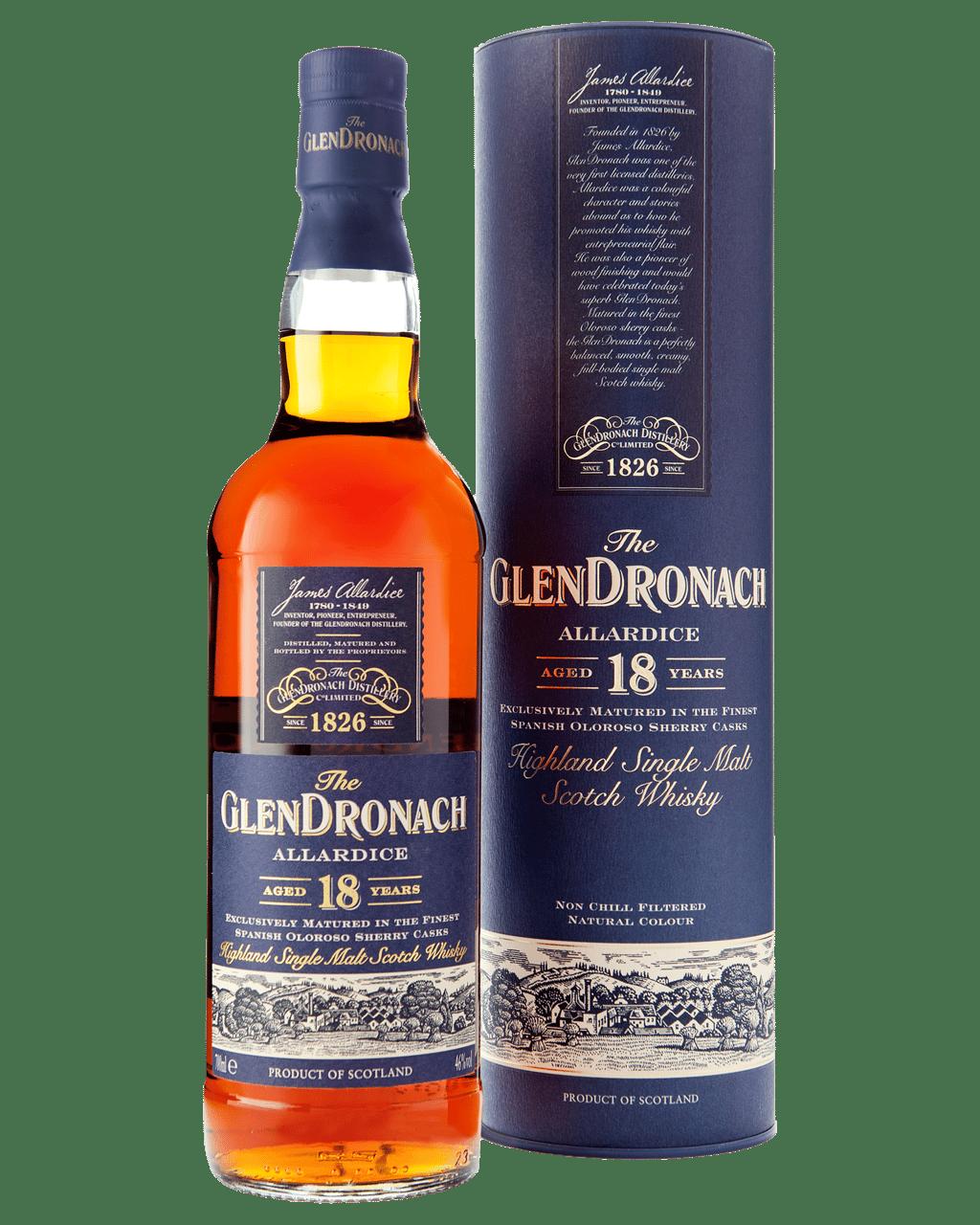 f2681275b42 The GlenDronach 18 Year Old Allardice Single Malt Scotch Whisky 700mL
