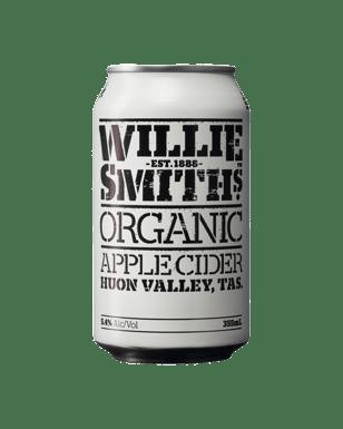 Buy Willie Smith's Organic Apple Cider Cans 355mL | Dan Murphy's