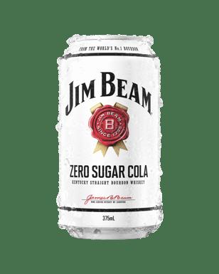 Jim Beam White Label Bourbon   Zero Sugar Cola Cans 375mL  3fe4956a349a