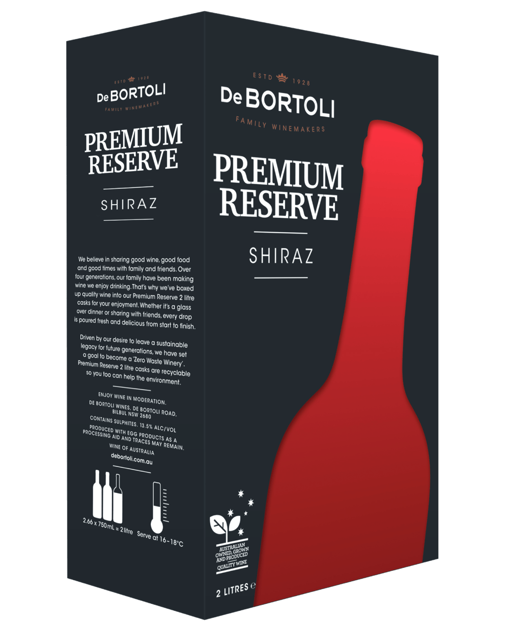 992d7771b92c5 Buy De Bortoli Premium Reserve Shiraz Cask 2L   Dan Murphy's