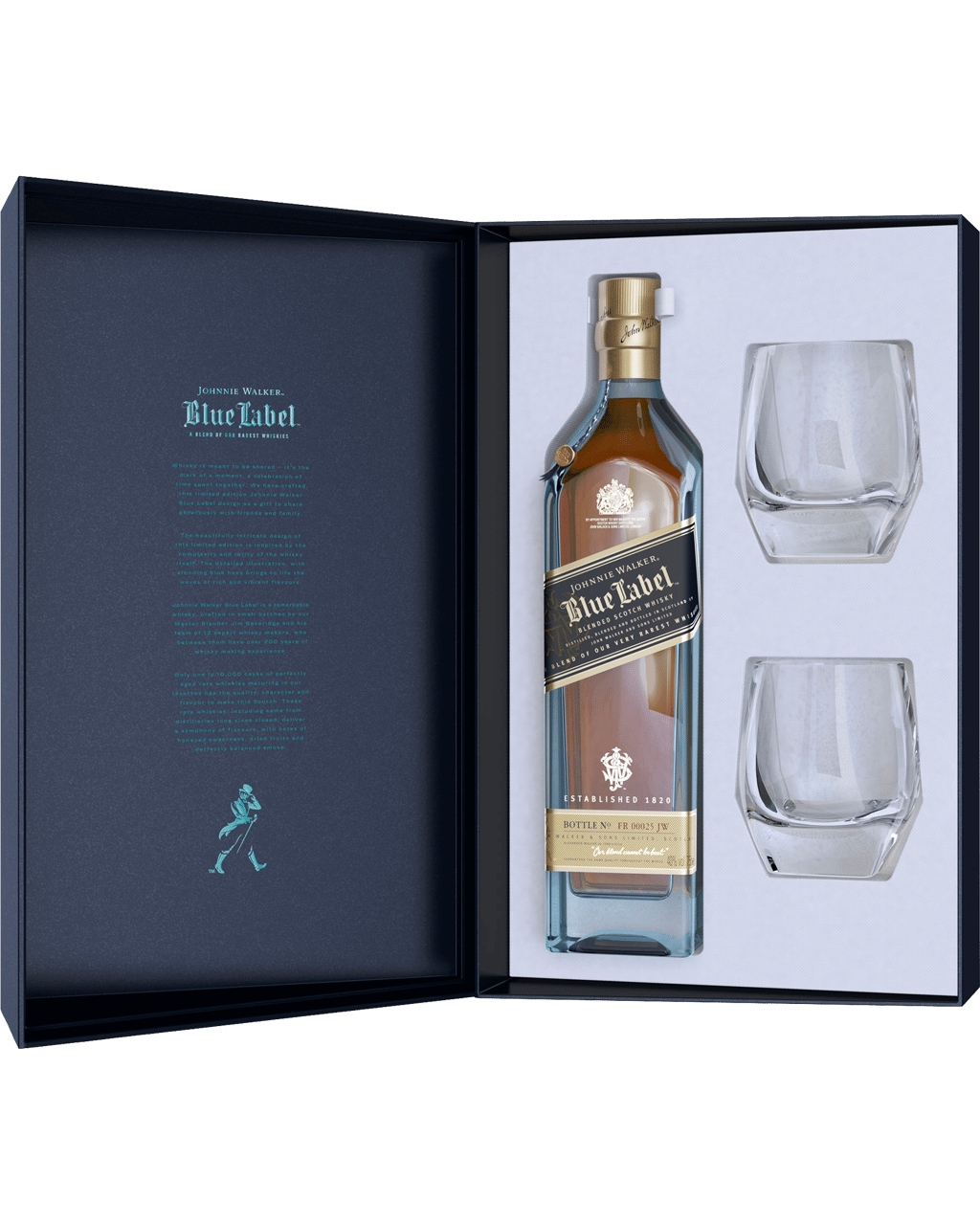 5efc647dcebb Johnnie Walker Blue Label Scotch Whisky   Crystal Glass Gift Pack 700mL